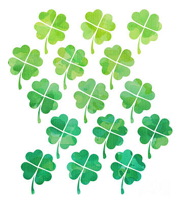 Painting - Ombre Shamrocks by Whitney Morton