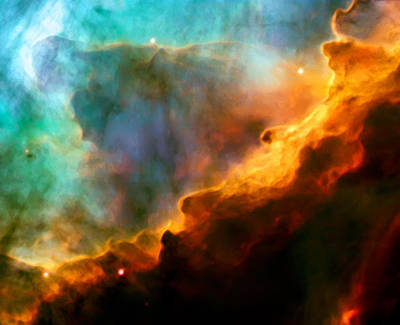 Space Photograph - Omega Swan Nebula 3 by Jennifer Rondinelli Reilly - Fine Art Photography