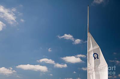Sail Cloth Photograph - Omega Symbol On Mast by Arletta Cwalina