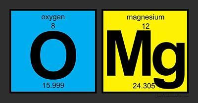 Digital Art - Omg - Periodic Table Of Elements by Joel Anderson