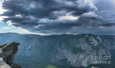 Photograph - Ominous Clouds Over Glacier Point by Michael Ver Sprill