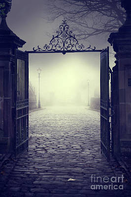 Photograph - Ominous Gateway On A Foggy Night  by Lee Avison