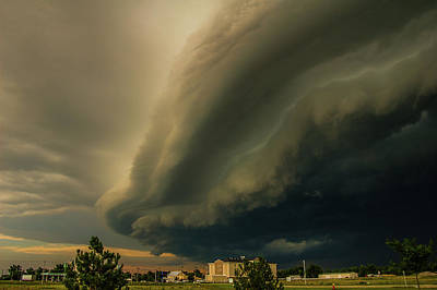 Photograph - Ominous Nebraska Outflow 032 by NebraskaSC