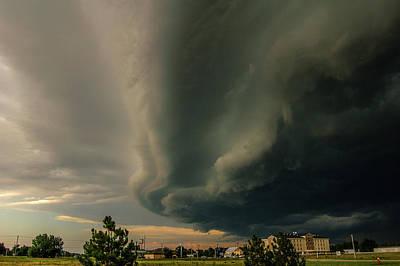 Photograph - Ominous Nebraska Outflow 035 by NebraskaSC