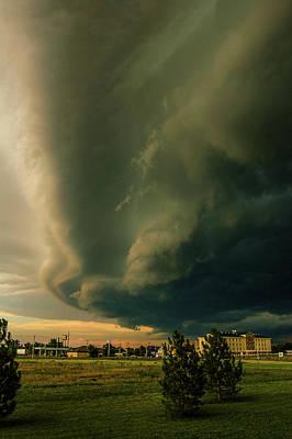 Photograph - Ominous Nebraska Outflow 036 by NebraskaSC