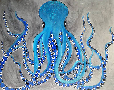 Giant Squid Painting - Ominous Octopus by Melissa Mills