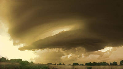 Digital Art - Ominous Oklahoma Sky by Shelli Fitzpatrick