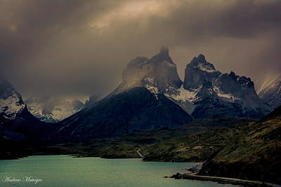 Art Print featuring the photograph Ominous Peaks by Andrew Matwijec