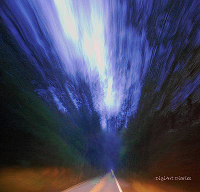 Weed Digital Art - Ominous Roadway by DigiArt Diaries by Vicky B Fuller