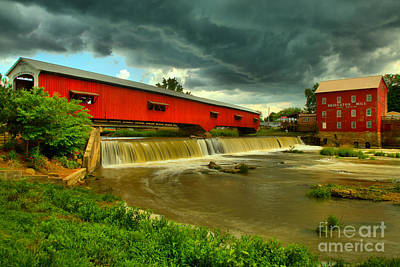 Photograph - Ominous Skies Over Bridgeton by Adam Jewell