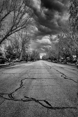 Photograph - Ominous Street Vertical by John McArthur