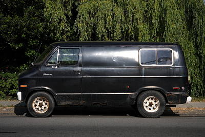 Nanaimo Photograph - Ominuous Nanaimo Truck  by Kreddible Trout