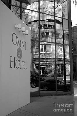Photograph - Omni Reflection In Black And White by Shelia Kempf