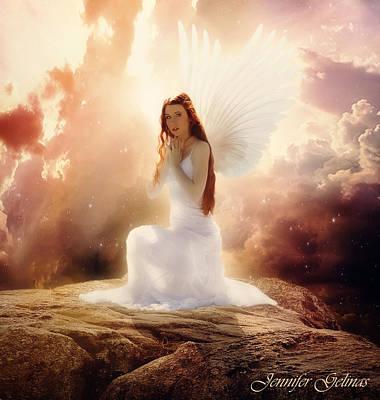 Rock Angels Digital Art - Omniel by Jennifer Gelinas