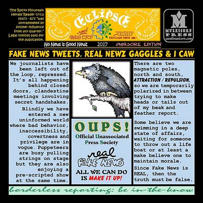 Digital Art - Omniscire Fake News Tweets by Dawn Sperry