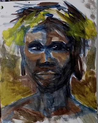 Painting - Omo Valley Tribe  by Courtney Wilding