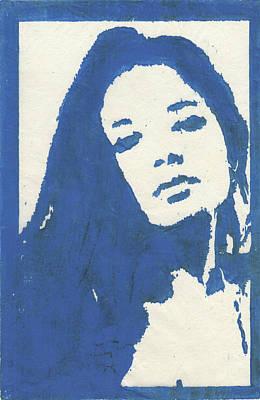 Drawing - Omorfia Blue Rice Paper by Erik Paul