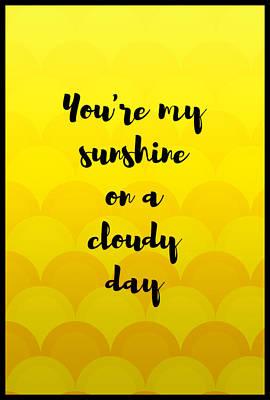 Digital Art - On A Cloudy Day  by Bonnie Bruno