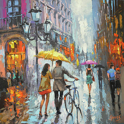 Painting - On A Cloudy Day  by Dmitry Spiros