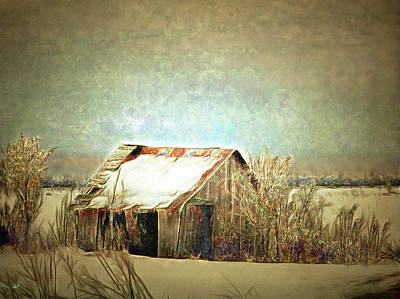 Digital Art - On A Cold Winter's Day by Leslie Montgomery