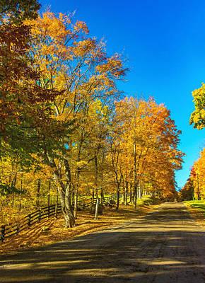 Autumn Photograph - On A Country Road 4 by Steve Harrington