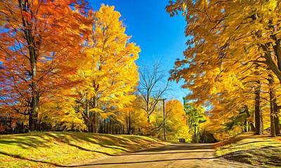 Back Roads Digital Art - On A Country Road 6 - Paint by Steve Harrington