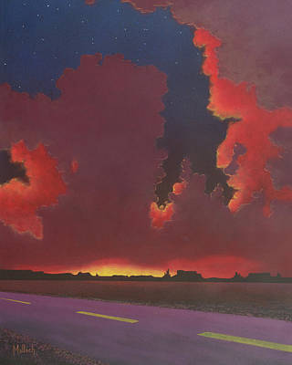 Painting - On A Dark Desert Highway by Jack Malloch