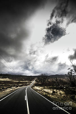 Country Road Wall Art - Photograph - On A Dark Deserted Highway by Jorgo Photography - Wall Art Gallery