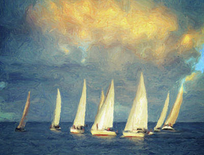Sailing Ships Painting - On A Day Like Today  by Taylan Apukovska