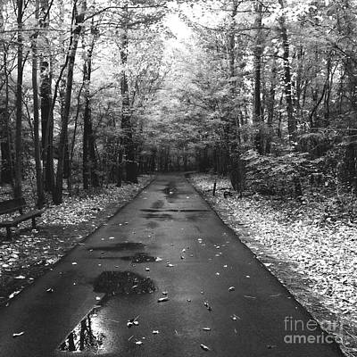 On A Drizzly Day Art Print