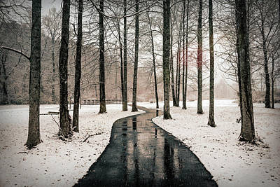 Photograph - On A Ghostly Winter's Day   by Debra and Dave Vanderlaan
