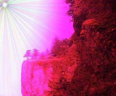 Rocky Digital Art - On A Ledge Near Heaven  by Jeff Swan