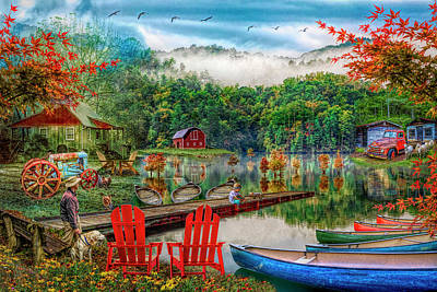 Photograph - On A Peaceful Country Evening In Hdr Detail by Debra and Dave Vanderlaan
