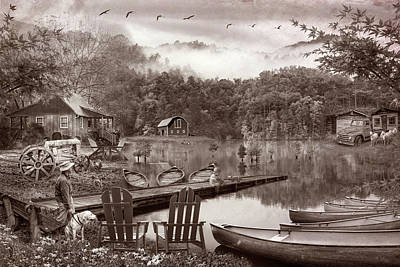 Photograph - On A Peaceful Old Timey Country Evening by Debra and Dave Vanderlaan