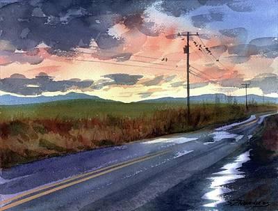 On A Road Side Art Print