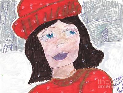 On A Snowy Day Art Print by Elinor Rakowski