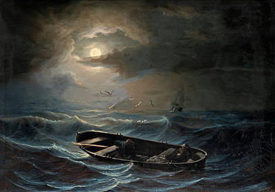 On A Stormy Sea Art Print