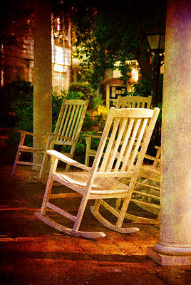 Rocking Chairs Photograph - On A Sunday Afternoon by Susanne Van Hulst