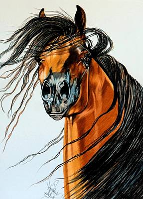 Painting - On A Windy Day-dream Horse Series #2003 by Cheryl Poland