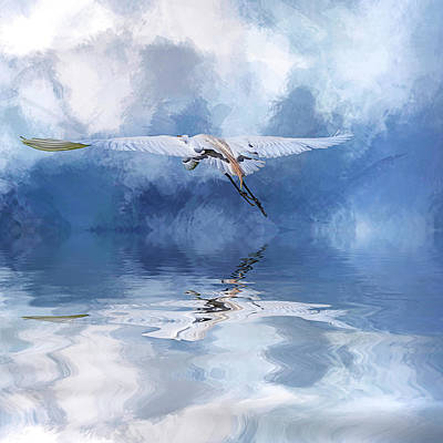 On A Wing And A Prayer Art Print by Cyndy Doty