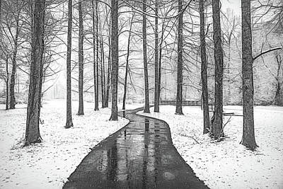 Photograph - On A Winter's Day In Black And White by Debra and Dave Vanderlaan
