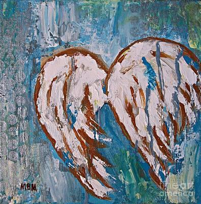 On Angel Wings Art Print