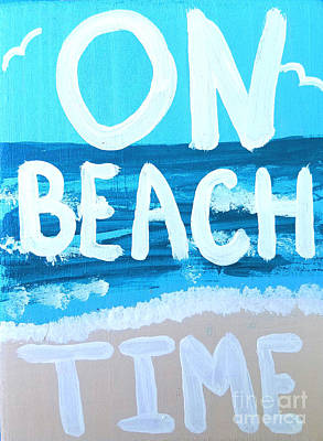 Hemmingway Painting - On Beach Time by Scott D Van Osdol