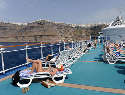 Photograph - On Board, Santorini Background, 2011 by John Jacquemain