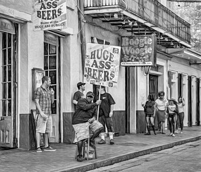 New Attitudes Photograph - On Bourbon Street 2 - Paint by Steve Harrington