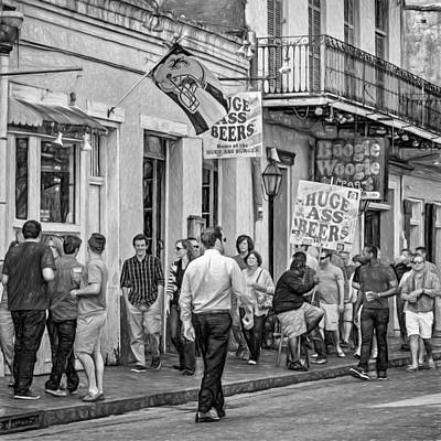 On Bourbon Street - Paint Bw Art Print by Steve Harrington