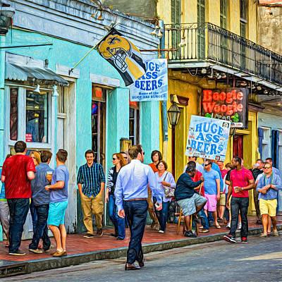 New Attitudes Photograph - On Bourbon Street - Paint by Steve Harrington