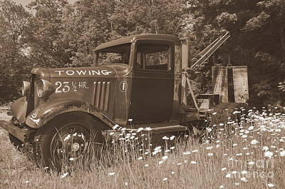 Old Tow Truck Photograph - On Break by Catherine Reusch Daley