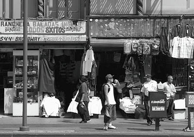 Photograph - On Broadway Los Angeles Style by Lorraine Devon Wilke