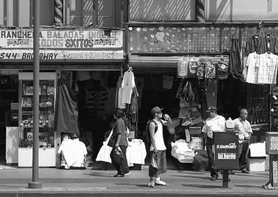 Photograph - On Broadway Los Angeles Style by Lorraine Devon Wilke